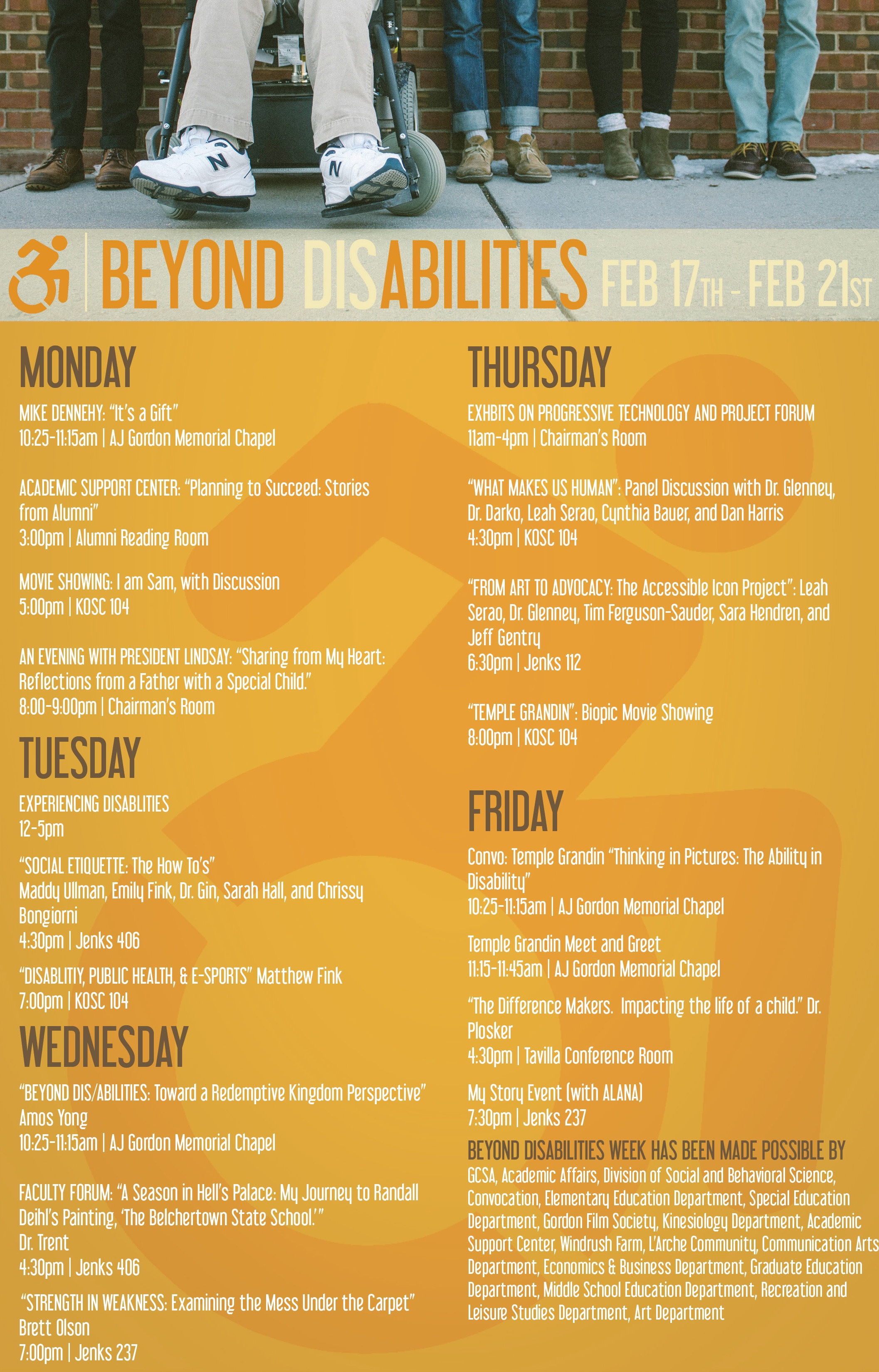 Beyond Disabilities Week, Gordon College, Leah Serao, Temple Grandin Keynote